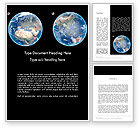 Global: Earth and Moon Word Template #12002