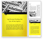 Financial/Accounting: Economic Solutions Word Template #12004