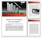 Financial/Accounting: Melting Profits Word Template #12010