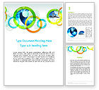 Business: Cool Presentation with Rings Word Template #12015