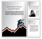 Education & Training: Businessman Climbing Graph Word Template #12017