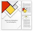 Abstract/Textures: Colored Squares Word Template #12067