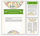 Food & Beverage: Pizza Illustration Word Template #12068