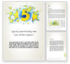 Holiday/Special Occasion: Five Years Celebration Word Template #12069