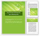 Nature & Environment: Modello Word - Gocce dell'acqua sul foglio #12074