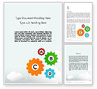 Education & Training: Colorful Cogs Word Template #12075