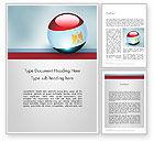 Flags/International: Modelo do Word - bola bandeira egito #12088