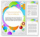 Abstract/Textures: 워드 템플릿 - 추상 컬러 서클 #12089