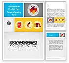 Business Concepts: Presentation with Flat Icons Word Template #12091