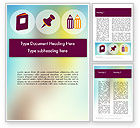 Education & Training: Presentation with Big Flat Icons Word Template #12096