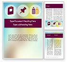 Education & Training: Präsentation mit großen flachen icons Word Vorlage #12096
