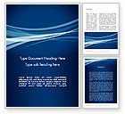 Abstract/Textures: Layered Blue Transparent Curves Word Template #12107