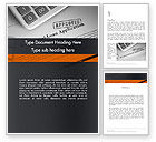 Financial/Accounting: Loan Application Theme Word Template #12113