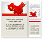 Flags/International: Map of China Word Template #12114