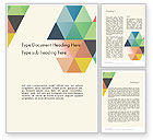 Abstract/Textures: Colored Triangles Word Template #12119