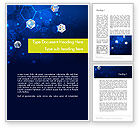 Technology, Science & Computers: Network Concept with Hexagons Word Template #12121