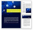 Technology, Science & Computers: Modelo do Word - conceito da rede com hexágonos #12121