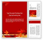 Abstract/Textures: Arrows on Red Background Word Template #12125
