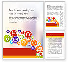 Careers/Industry: Colorful Icons Word Template #12132