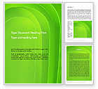 Abstract/Textures: Curved Lines on Green Word Template #12133
