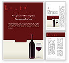 Food & Beverage: Wine Themed Word Template #12139