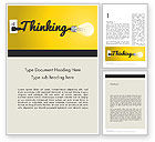 Business Concepts: Thinking Concept Word Template #12145