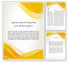 Abstract/Textures: Yellow Blurry Waves and Curved Lines Word Template #12147