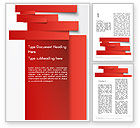 Business Concepts: Cut Strips of Red Paper Word Template #12162