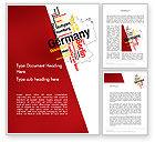 Flags/International: Modelo do Word - alemanha mapa cidades palavra nuvem #12177