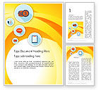 Business: Flat Icons on Yellow Word Template #12195