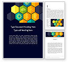 Business Concepts: Hexagons with Icons Word Template #12199