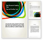 Abstract/Textures: Abstract Colorful Circles Word Template #12209