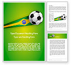 Sports: Brazilian Football Word Template #12240