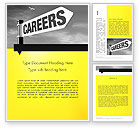 Careers/Industry: Carrière Ondertekenen Word Template #12253