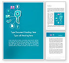 Business: One Key Solutions Word Template #12258