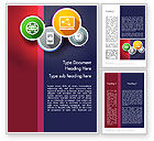 Business Concepts: Colorful Flat Designed Icons Word Template #12263