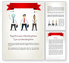 Education & Training: Banner and Characters Word Template #12265