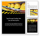 Careers/Industry: Safe at Work Word Template #12281