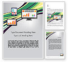Financial/Accounting: Stock Exchange Theme in Flat Design Word Template #12285