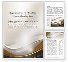 Abstract/Textures: Abstract Silver Gold and Bronze Waves Word Template #12291