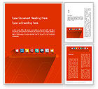 Careers/Industry: Flat Icons on Red Background Word Template #12295