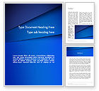 Abstract/Textures: Abstract Blue Tilted Layers Word Template #12303