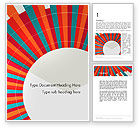 Abstract/Textures: Colorful Radial Lines Word Template #12304