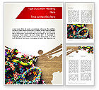 Art & Entertainment: Rubber Band Bracelets Word Template #12311