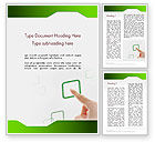 Business Concepts: Hand Touching a Button Word Template #12318