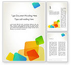 Abstract/Textures: Transparent Colored Squares Word Template #12348