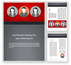Business Concepts: Team Presentation Word Template #12364