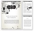 Food & Beverage: Coffee Doodles Word Template #12366