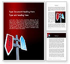 Business Concepts: Heaven and Hell Signs Word Template #12376