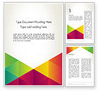 Abstract/Textures: Colorful Triangles Background Word Template #12381